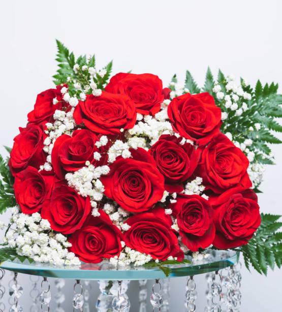 fleurs roses rouge